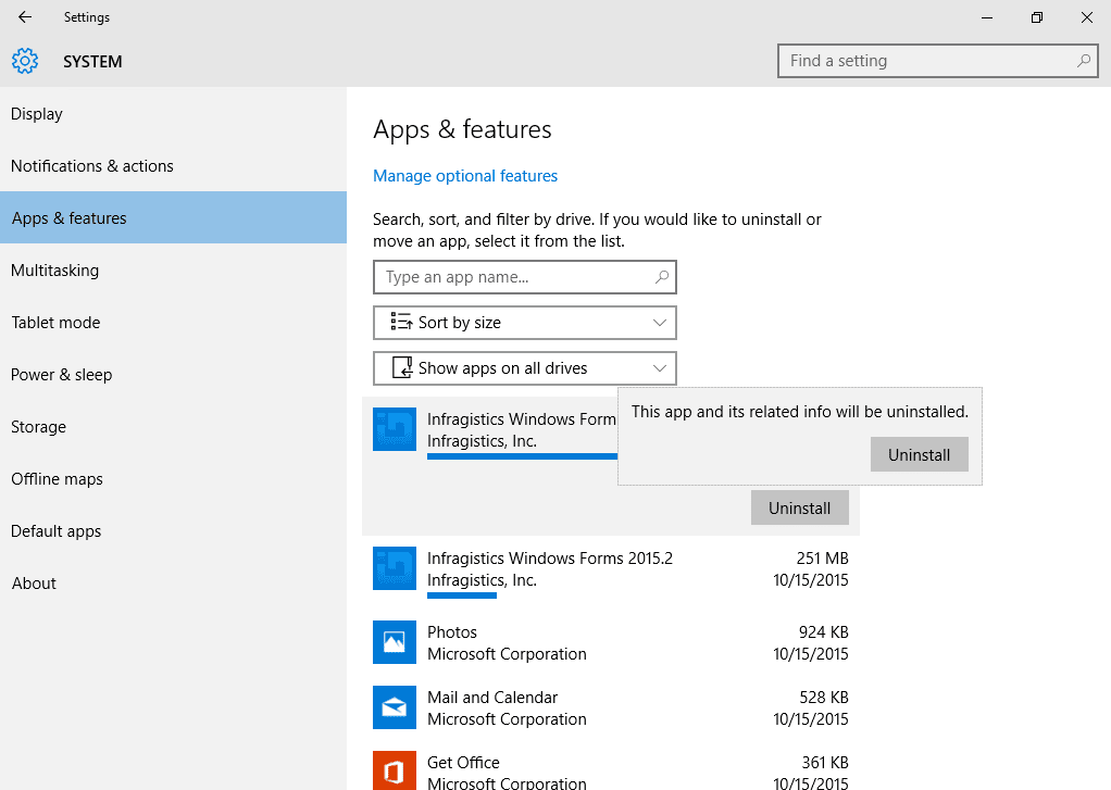 Uninstall_AppsAndFeatures Windows 10