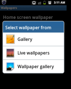 disable live wallpaper Android