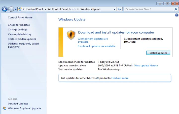 windows-7-software update