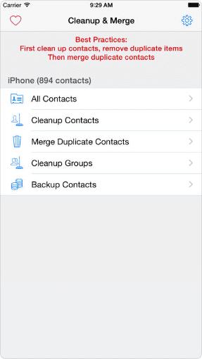 Clean, Merge Remove Duplicate Contacts Elite