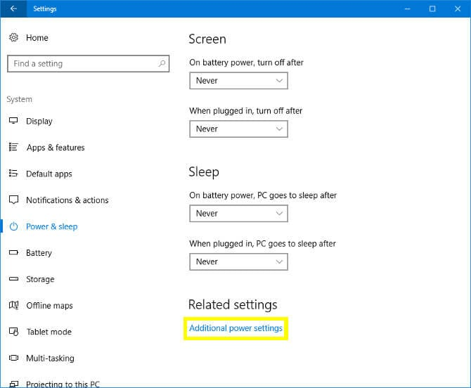 Battery Consumption Issues windows 10