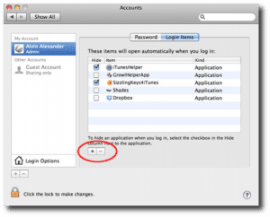 login items Mac