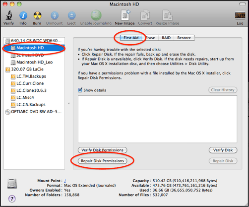 repair disk permission Mac