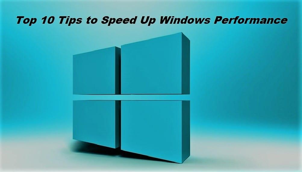 Speed up Windows performance