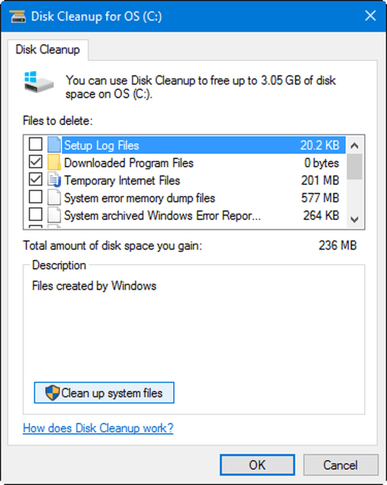 disk cleanup windows 7 & 10
