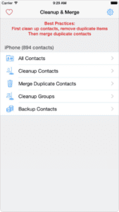 Clean, Merge Remove Duplicate Contacts Elite