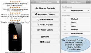ContactClean-iPhone-App