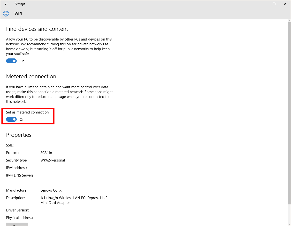 Stop Excess Data Consumption by Windows 10