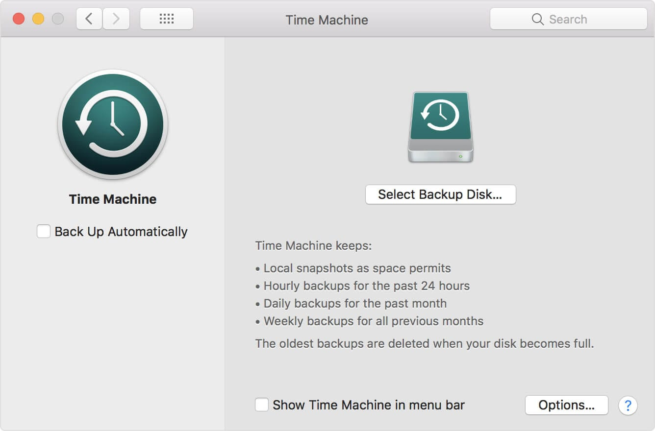 Restore Trash Files from Time Machine Backup