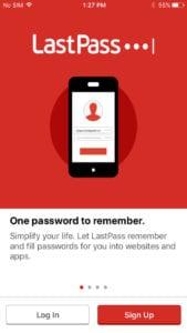 lastpass app for iphone