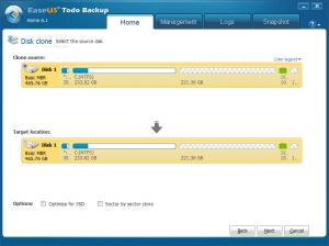 EaseUS Todo Backup disk clone