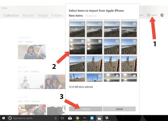 Windows Photos app
