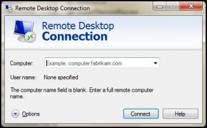 Windows Remote Desktop Connection