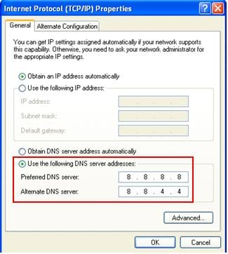 Alter your DNS server