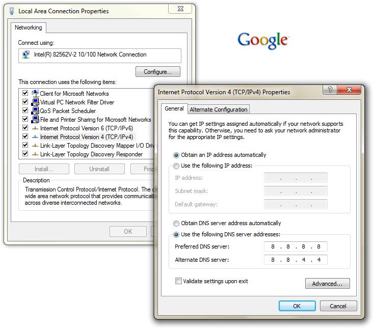 502 bad gateway error dns settings
