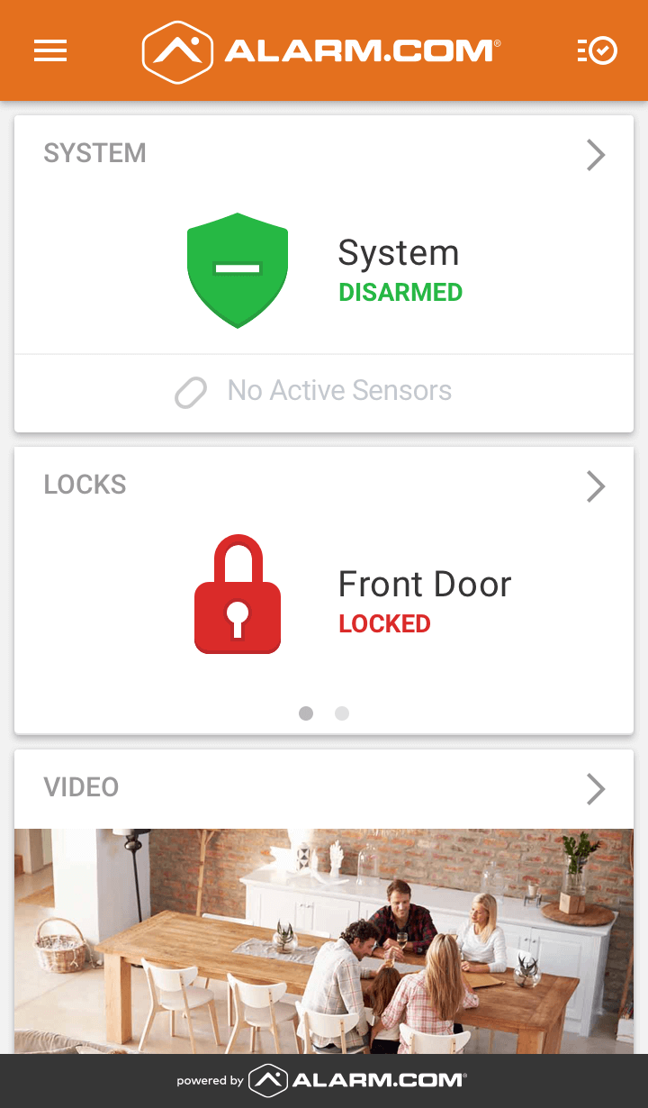 alarm.com home security app