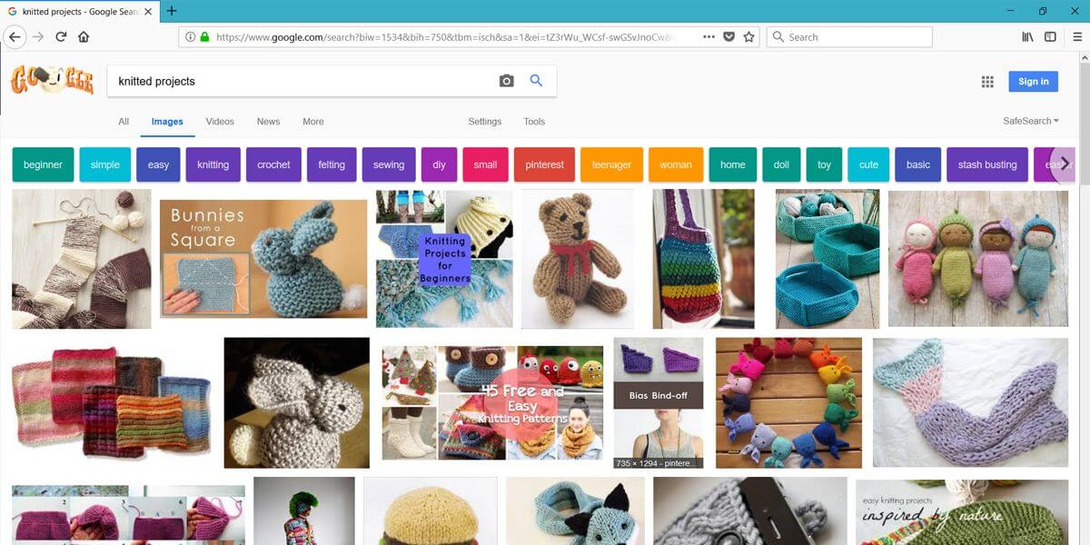 google-search-results-with-pinterest