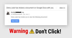 never click random links