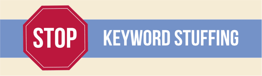 say no to keyword stuffing