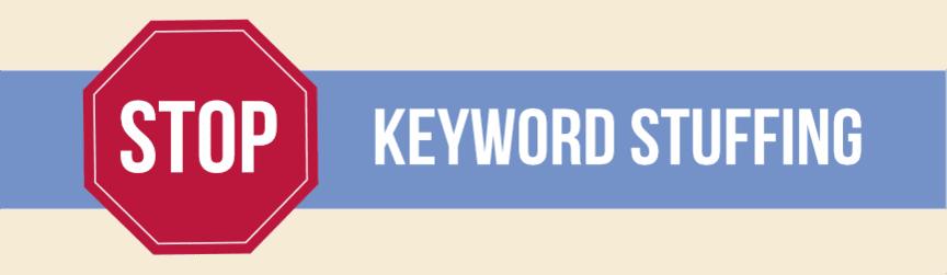 say no to keyword stuffing