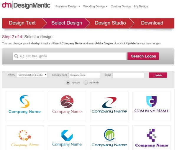 Design Mantic Logo Maker