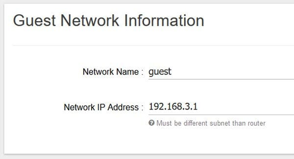 Set up a Guest Network