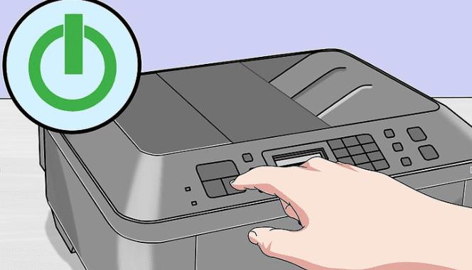 printer powe button