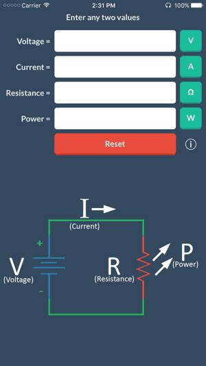 Ohm's Law app