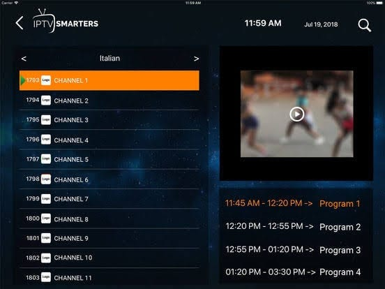 IPTV - Smarters Player