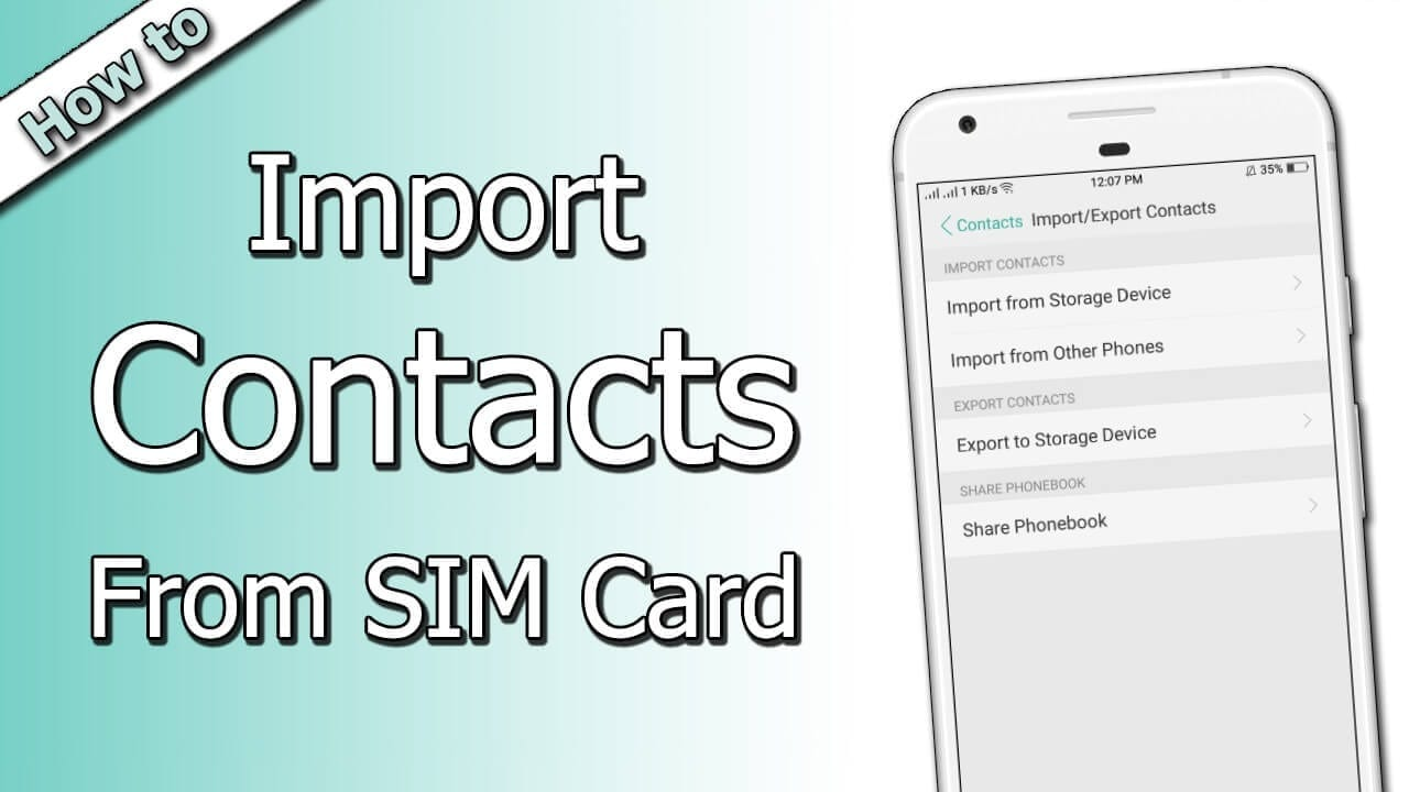How to Import Contacts From SIM Card