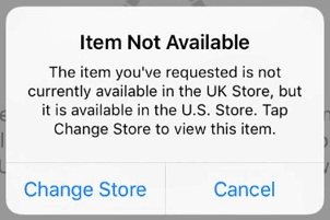 item not available
