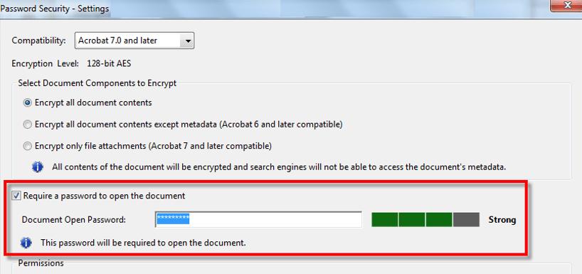 Password Protect PDF File