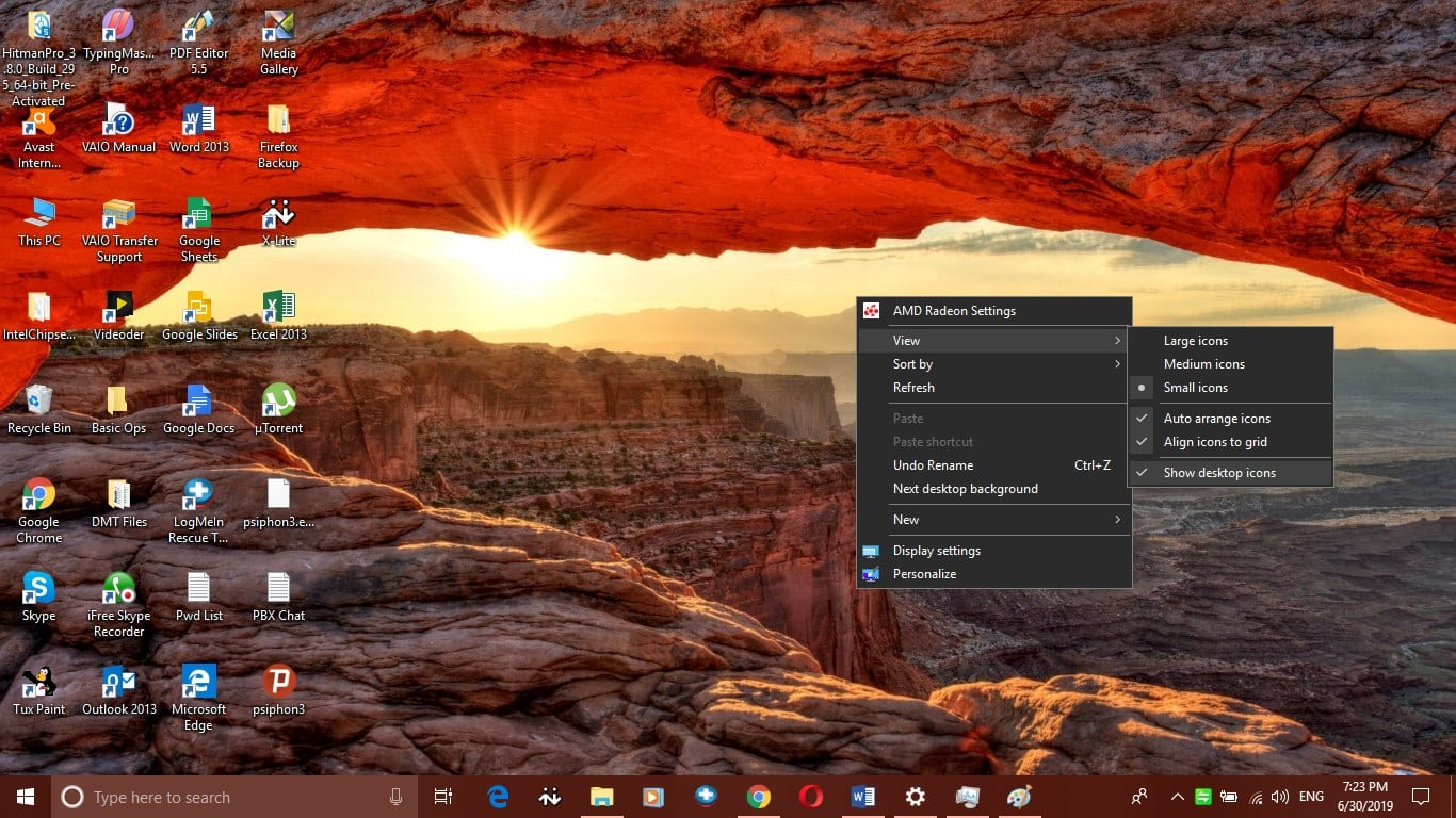 Can't find Windows 10 desktop icons? Want to hide desktop icons on A Windows 10 computer? Unable to find specific Windows icons? Here are various ways on how to show, hide or restore desktop icons.