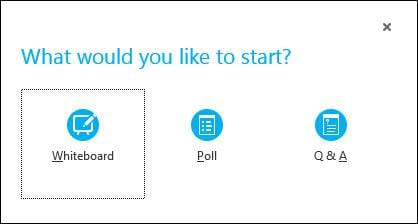 Whiteboard, Poll OR Q&A In Skype
