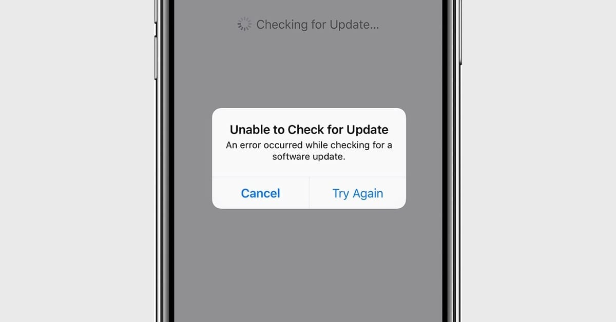How to Fix iOS 13.1 'Unable to Check for Update' Error