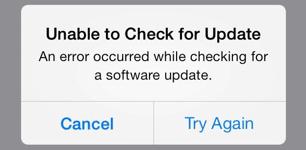 fix iOS 13.1 'Unable to Check for Update' Error