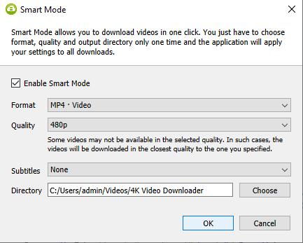 enable smart mode