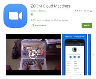 zoom play store