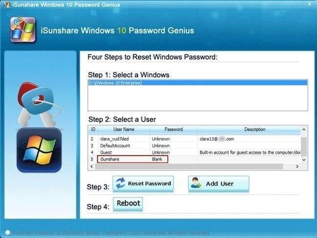 I-Sunshare Password Remover