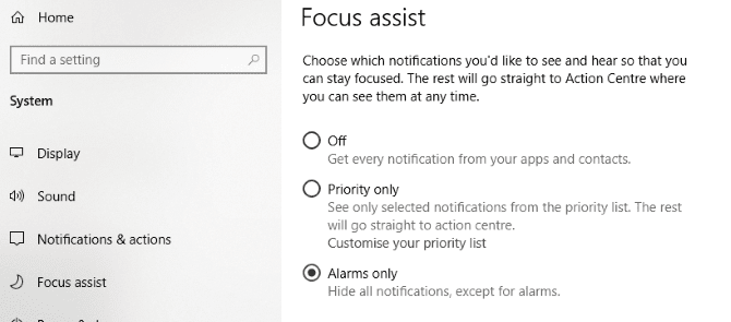Disable notifications to improve Windows 10 gaming