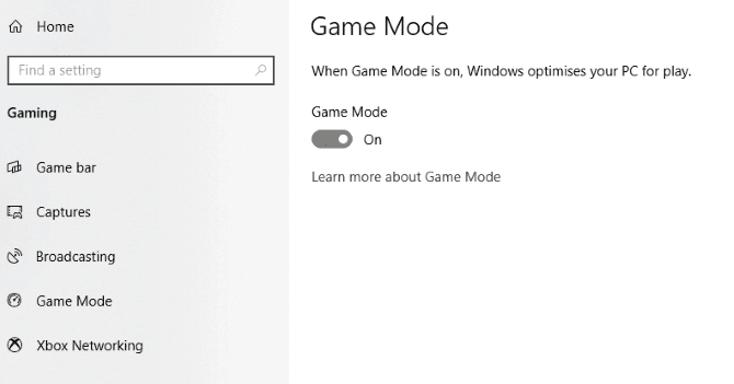 Optimize Windows 10 for better gaming performance