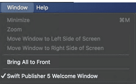 welcome window