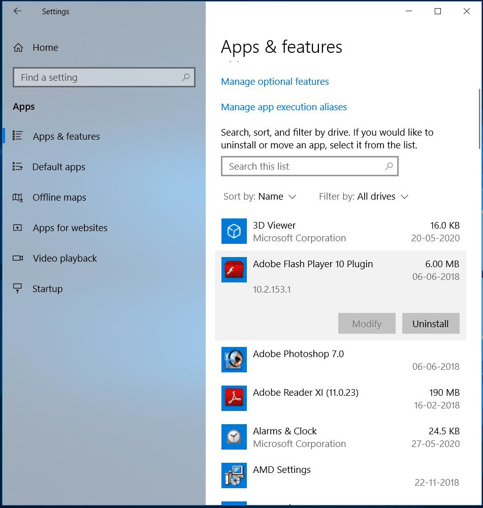 Uninstall Unnecessary Apps