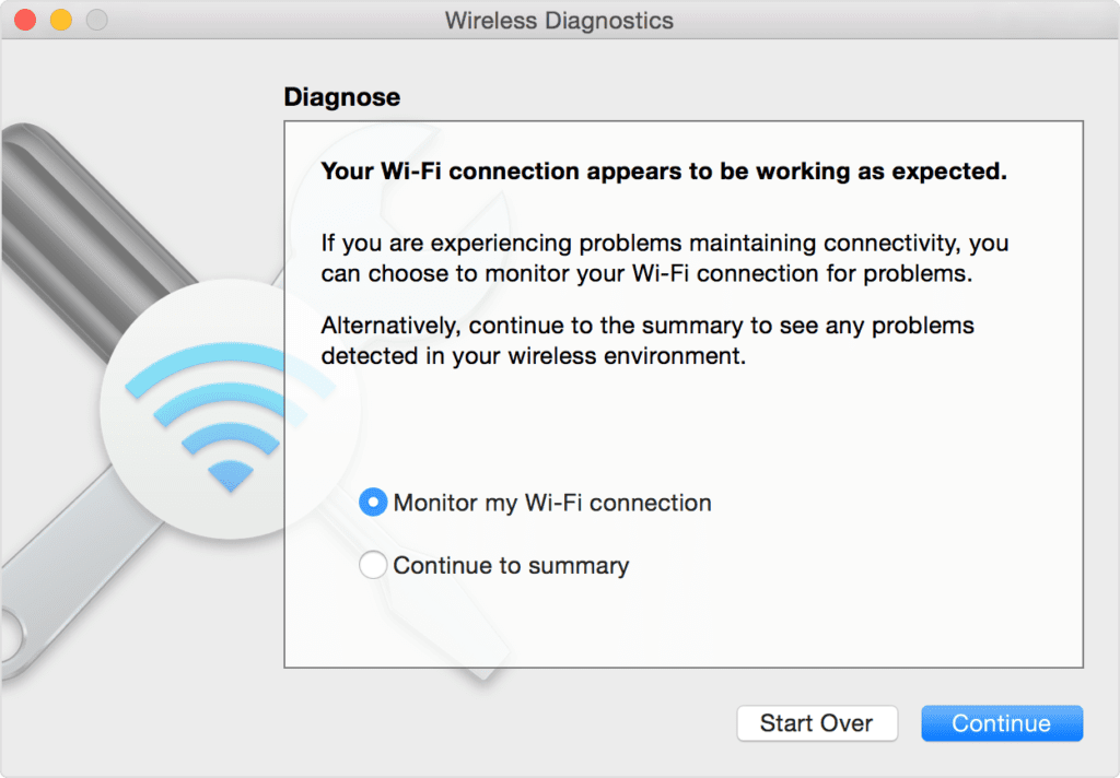 Monitor Wi-Fi connection