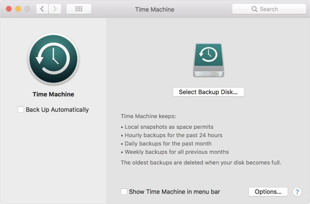 Remove Backup Disk