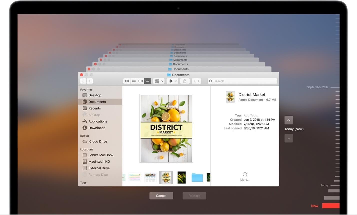 Restore Mac from Time Machine Backup