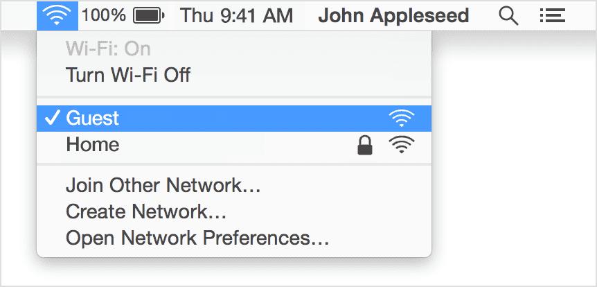 turn Wi-Fi on Mac