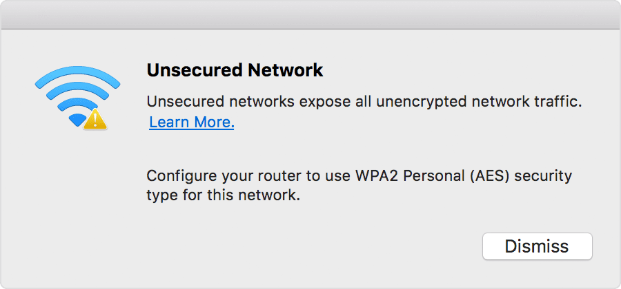 unsecured network