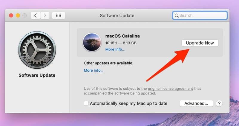 upgrade macOS