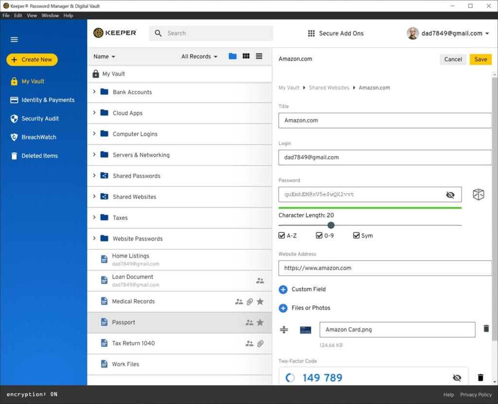 Keeper Windows Password Manager